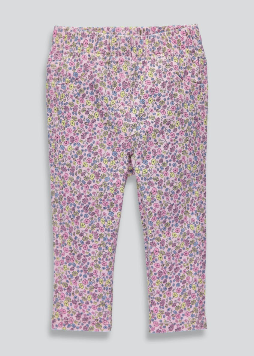 Girls Floral Jeggings (3mths-6yrs)