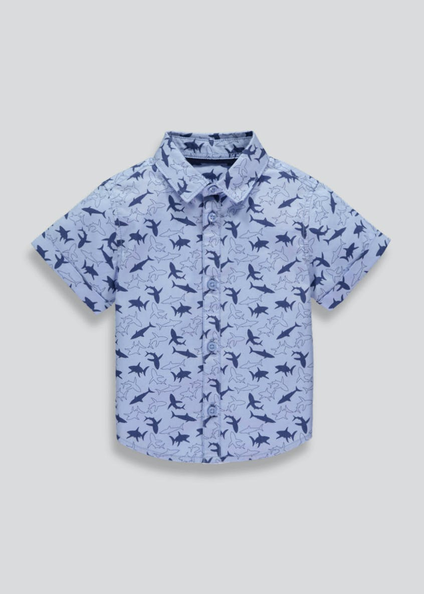 Boys Shark Short Sleeve Shirt (3mths-4yrs)