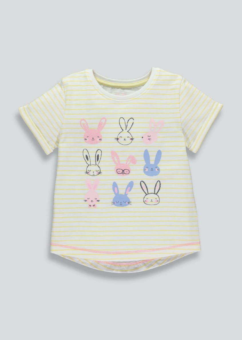 Girls Bunny Stripe T-Shirt (3mths-6yrs)