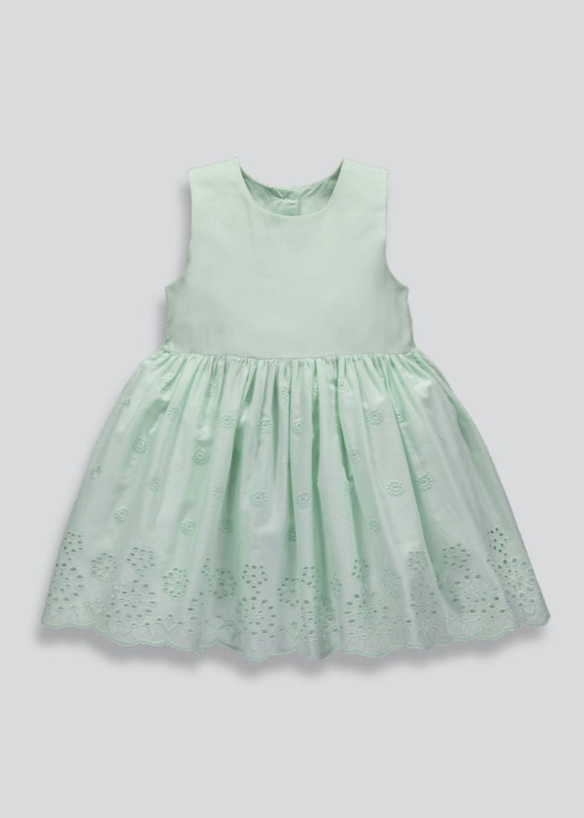 Girls Broderie Dress (3mths-6yrs)