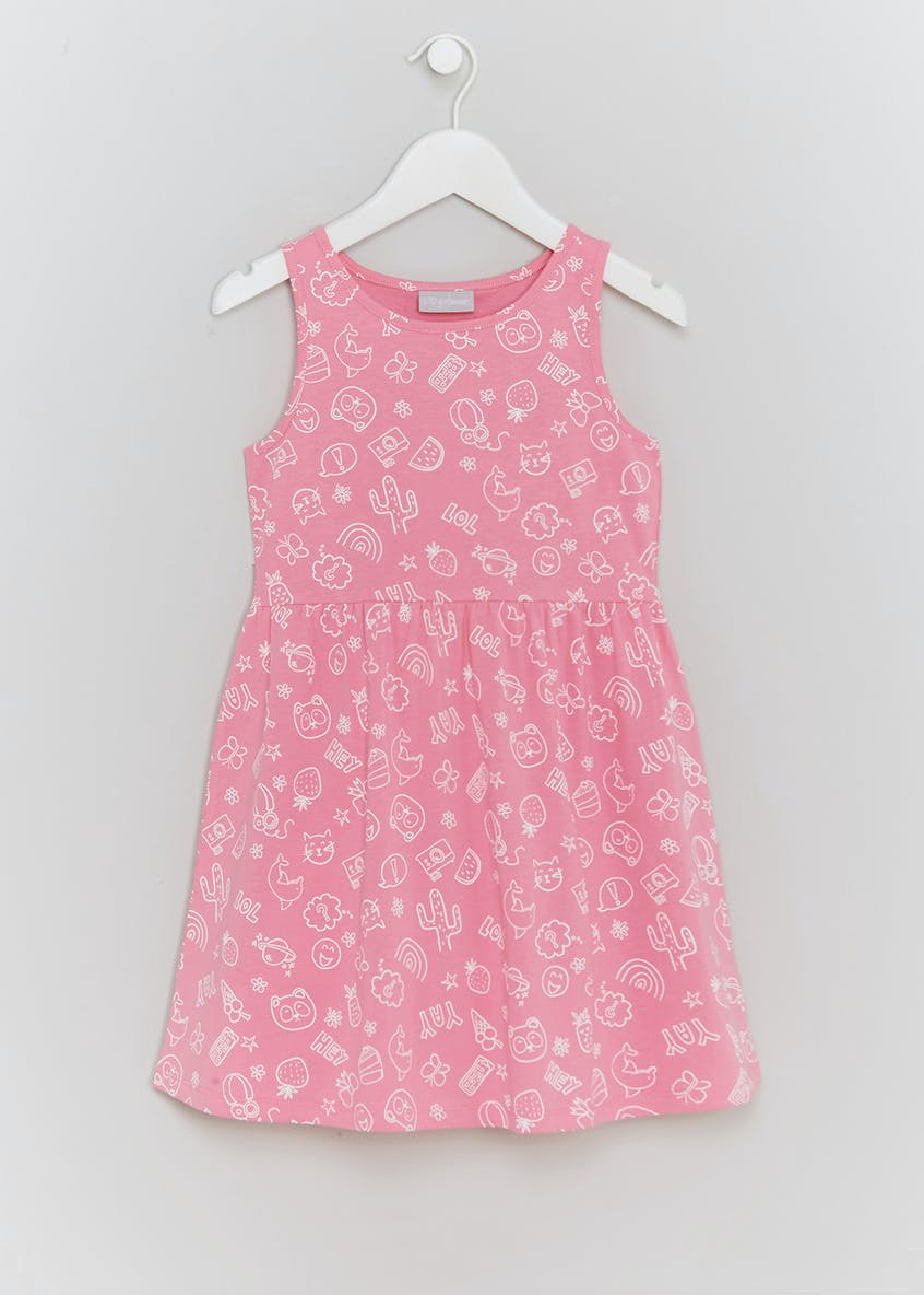 Girls Doodle Jersey Dress (4-13yrs)