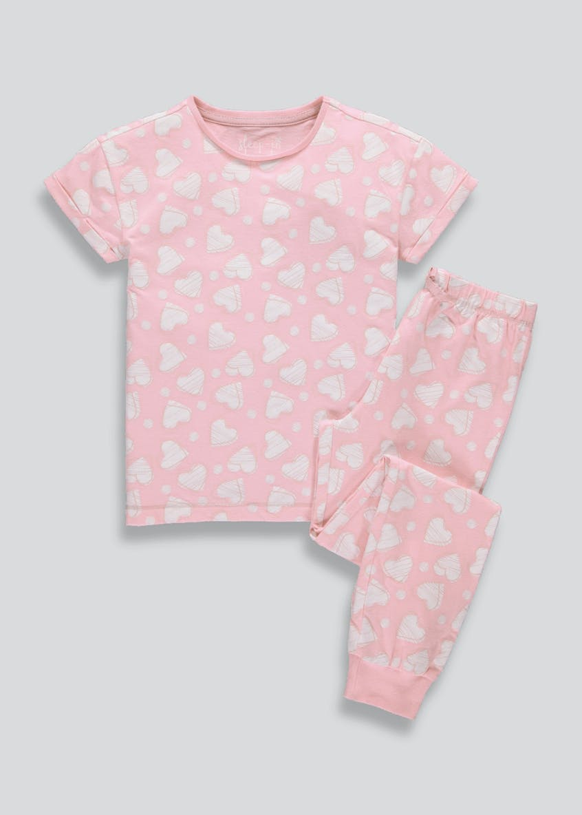 Girls Heart Pyjama Set (4-13yrs)