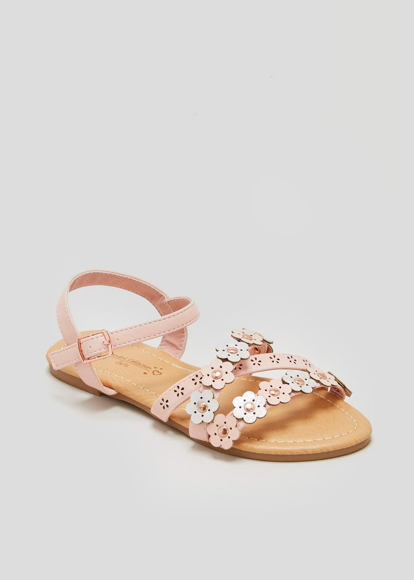 Girls Flower Sandals (Younger 10-Older 5)