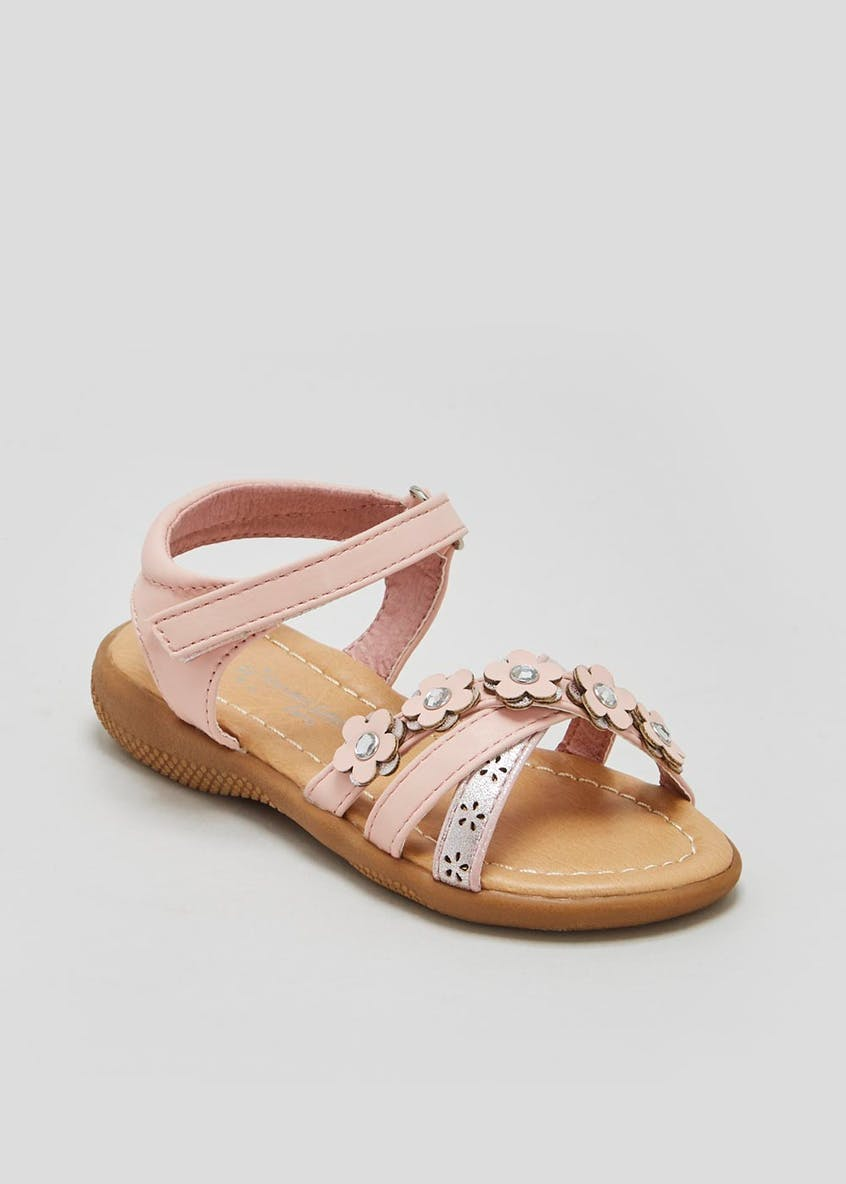 Girls Flower Sandals (Younger 4-12)