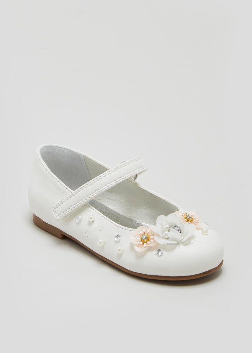 Girls Flower Occasion Ballet Shoes (Younger 4-12)