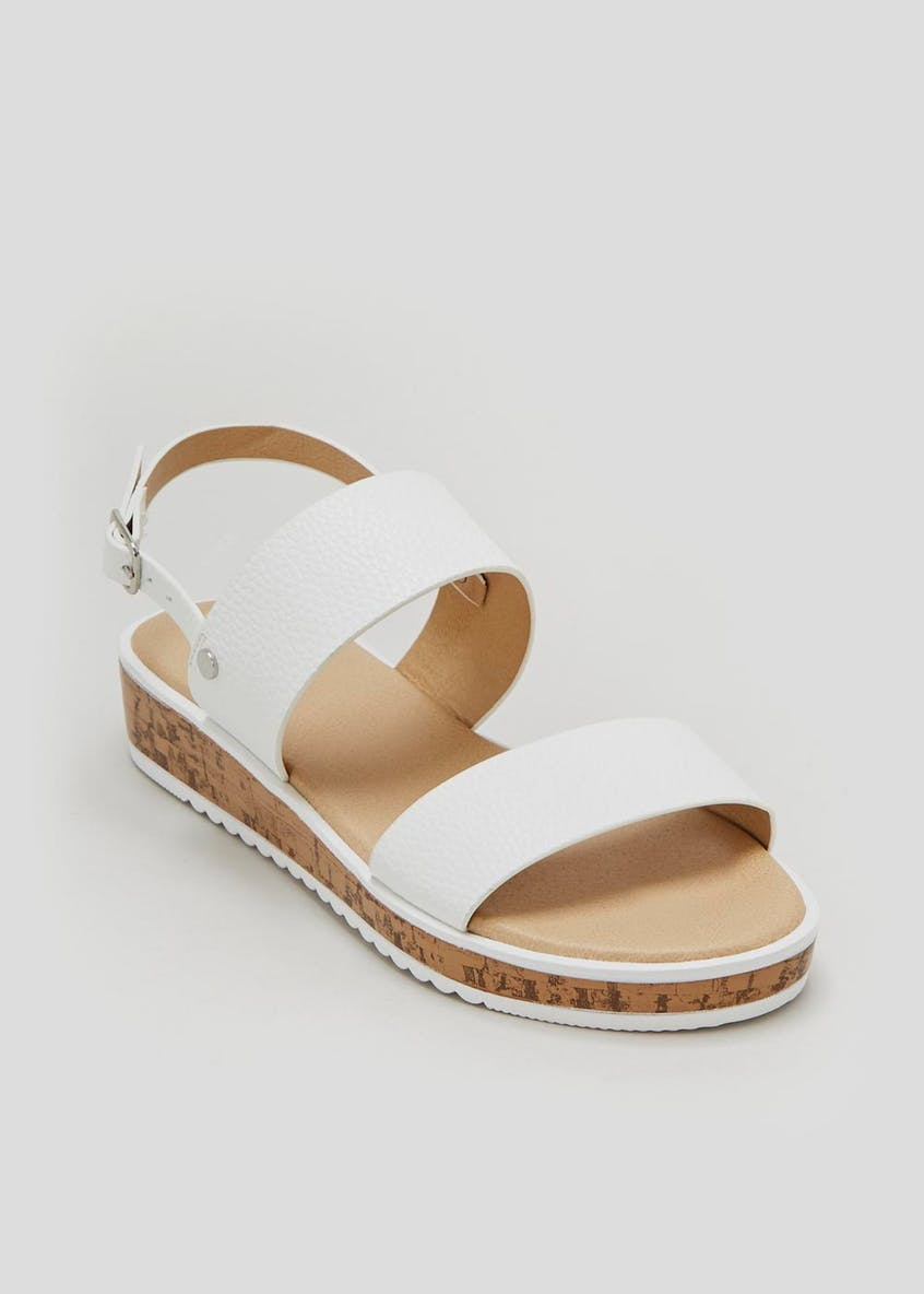 Cork Sole Twin Strap Sandals