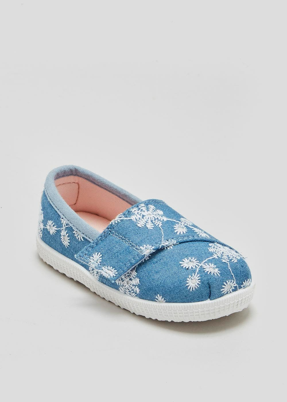 Girls Soft Sole Embroidered Pre-Walker