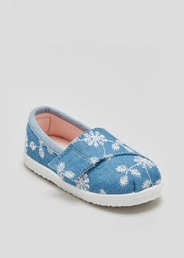 Girls Soft Sole Embroidered Pre-Walker Baby Shoes (Newborn-18mths)