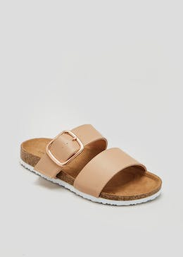 Buckle Twin Strap Footbed Sandals