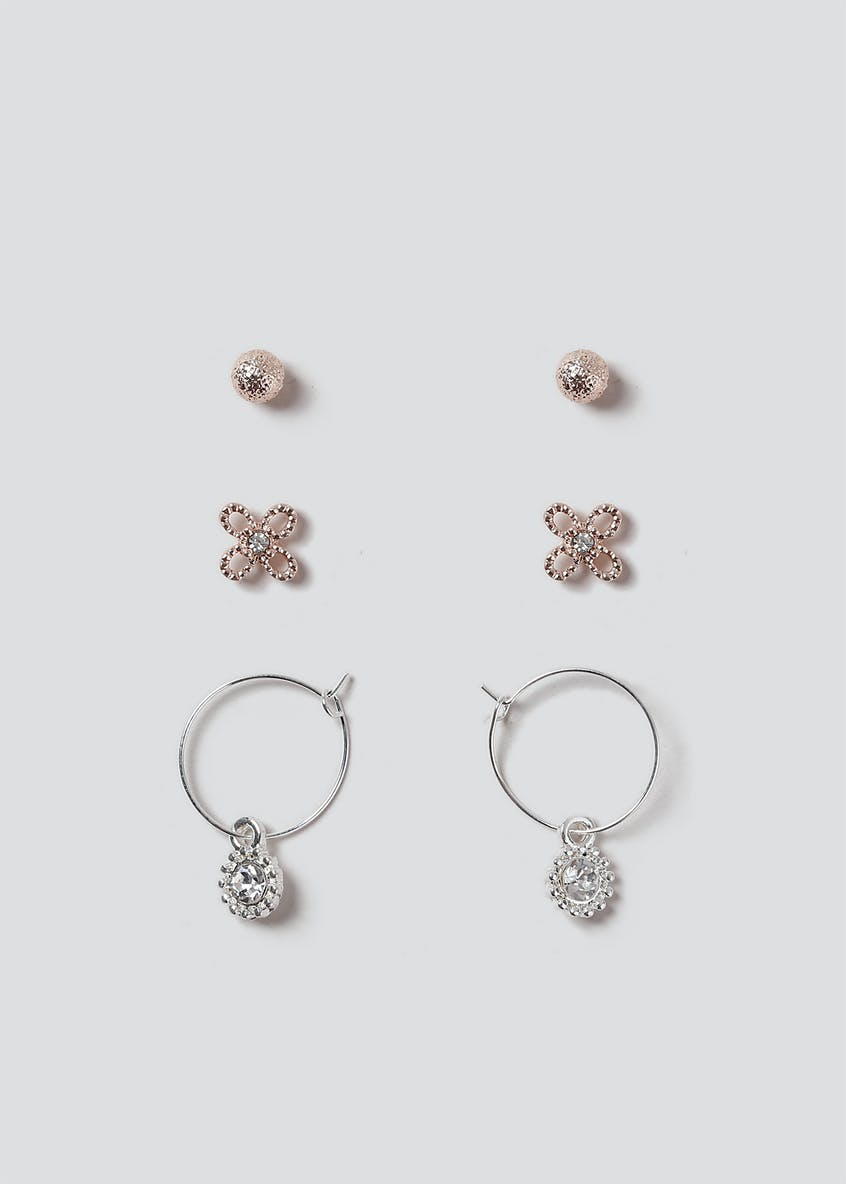 Stud And Mini Hoop Earring Pack