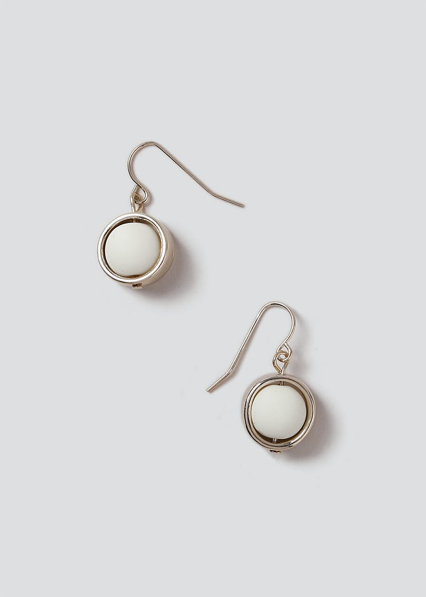 Rubber Ball Drop Earrings