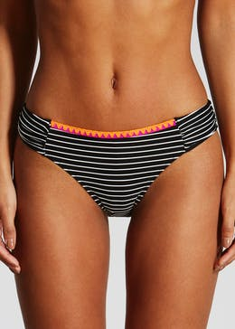 Blanket Stitch Stripe Bikini Bottoms