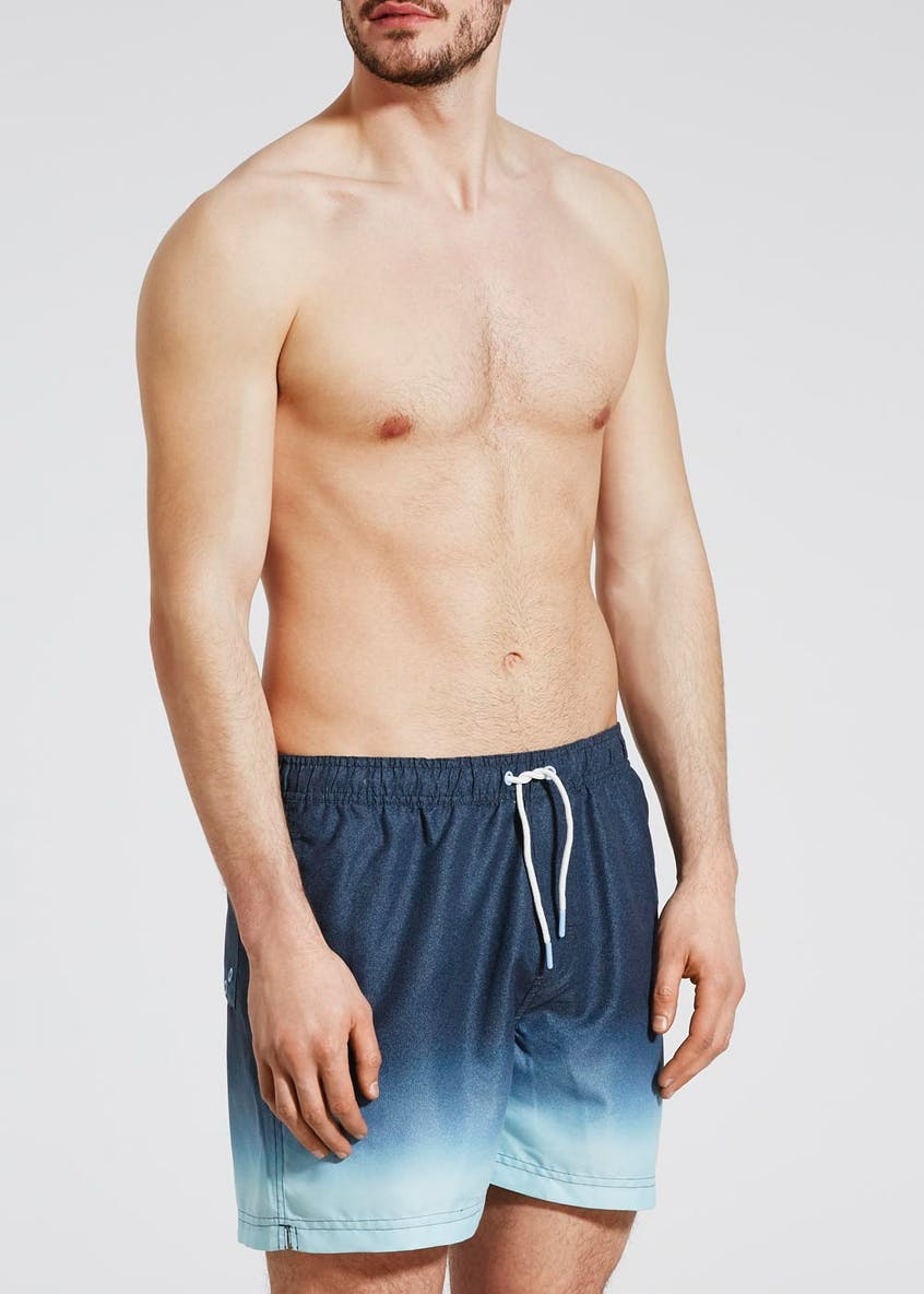 Mid Length Dip Dye Swim Shorts
