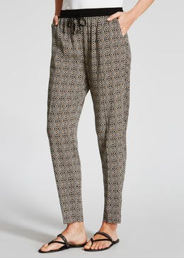 Geo Tapered Harem Trousers