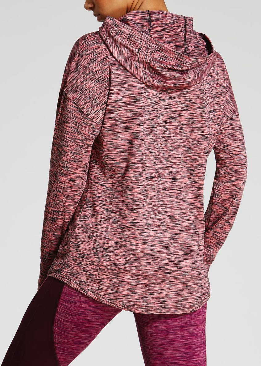 Souluxe Space Dye Zip Sweatshirt