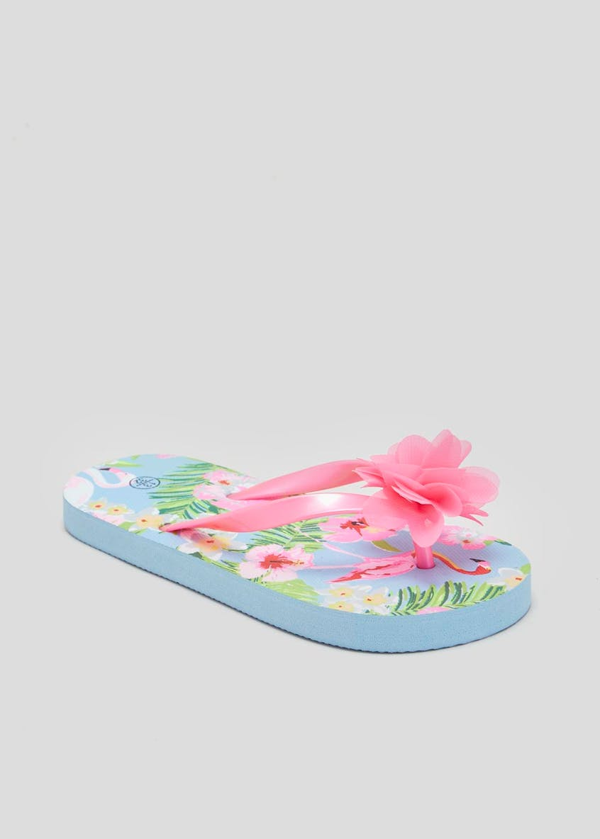 Girls Flower Flip Flops (Younger 10-Older 5)