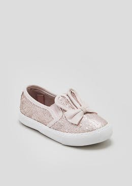 Girls Sequin Bunny Slip On Shoes (Younger 4-12)