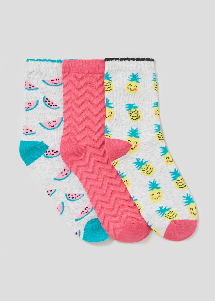 3 Pack Fruit Socks