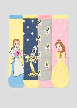 4 Pack Beauty and the Beast Socks