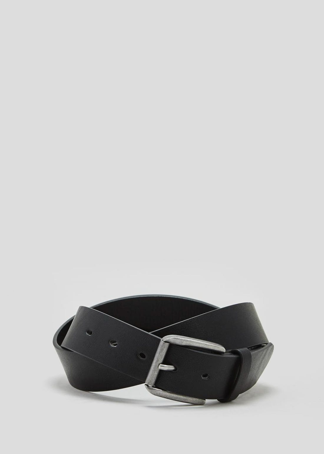 Black PU Buckle Belt