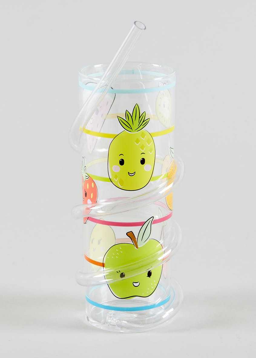 Kids Twist Straw Fruit Tumbler (16cm x 6cm)