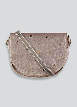 Girls Glitter Cross Body Bag (One Size)
