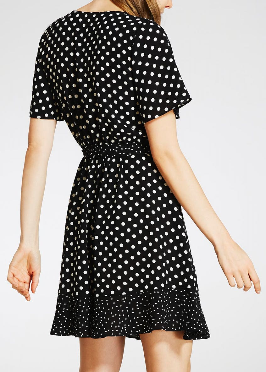 Polka Dot Wrap Tea Dress