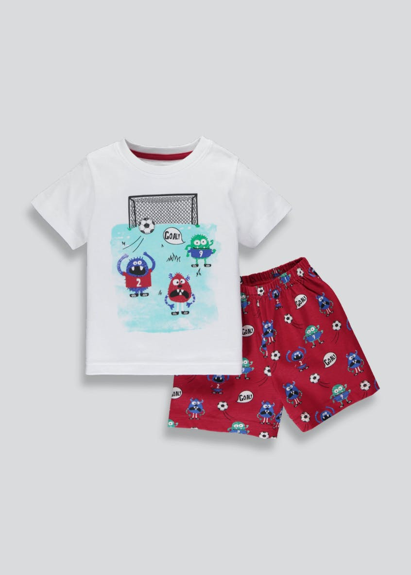 Boys Monster Football Short Pyjama Set (9mths-5yrs)