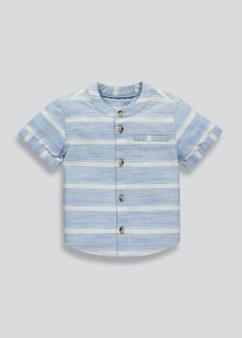 Boys Grandad Collar Shirt (3mths-6yrs)