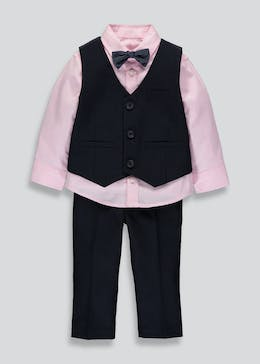 Boys Shirt Waistcoat Trousers & Bow Tie Set (9mths-6yrs)