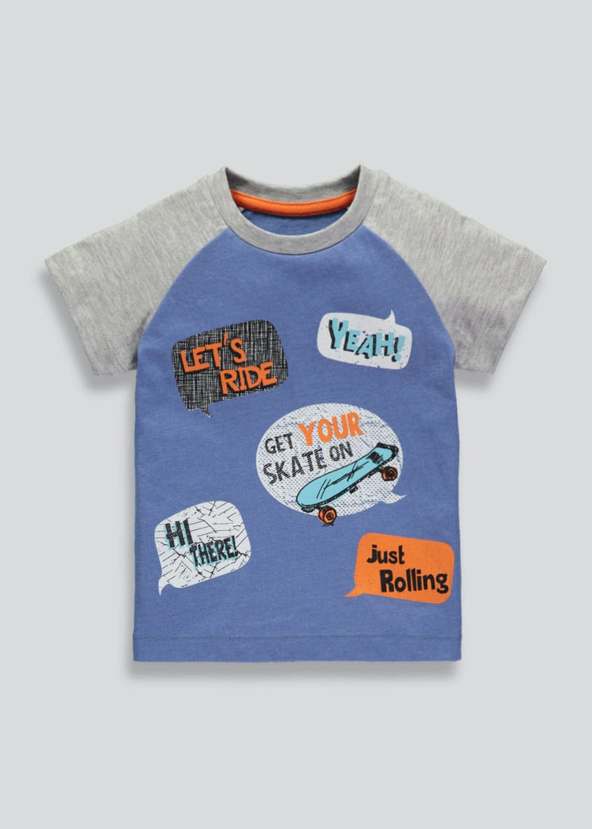 Boys Skate Slogan T-Shirt (3mths-6yrs)