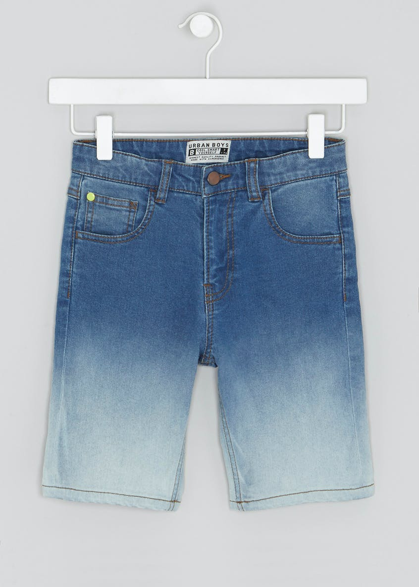 Boys Ombre Denim Shorts (4-16yrs)