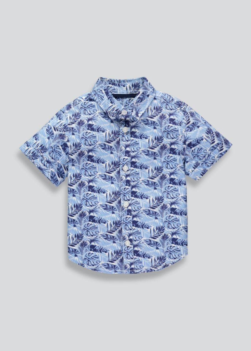 Boys Leaf Print Short Sleeve Shirt (3mths-4yrs)