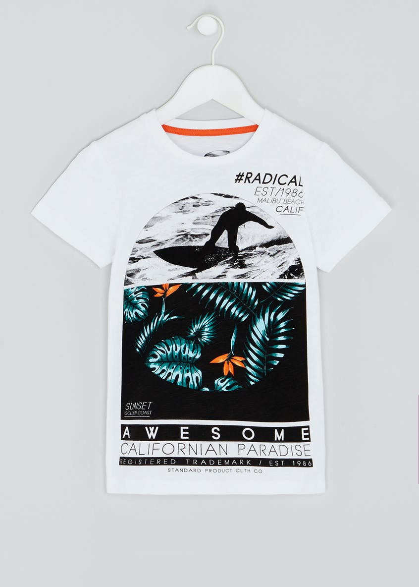 Boys Cali Surf Printed T-Shirt (4-13yrs)