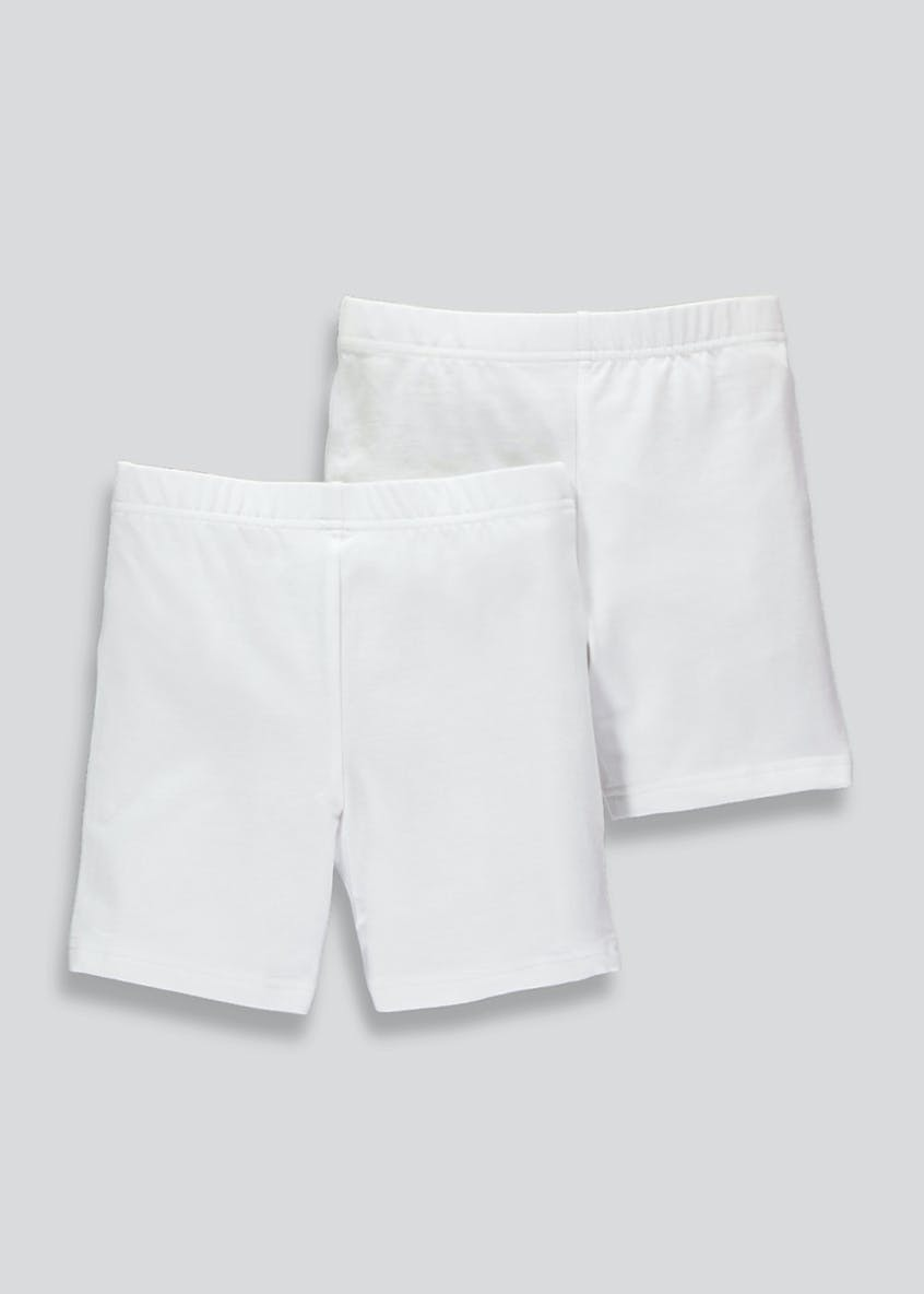 Girls 2 Pack Cycling Shorts (3-13yrs)