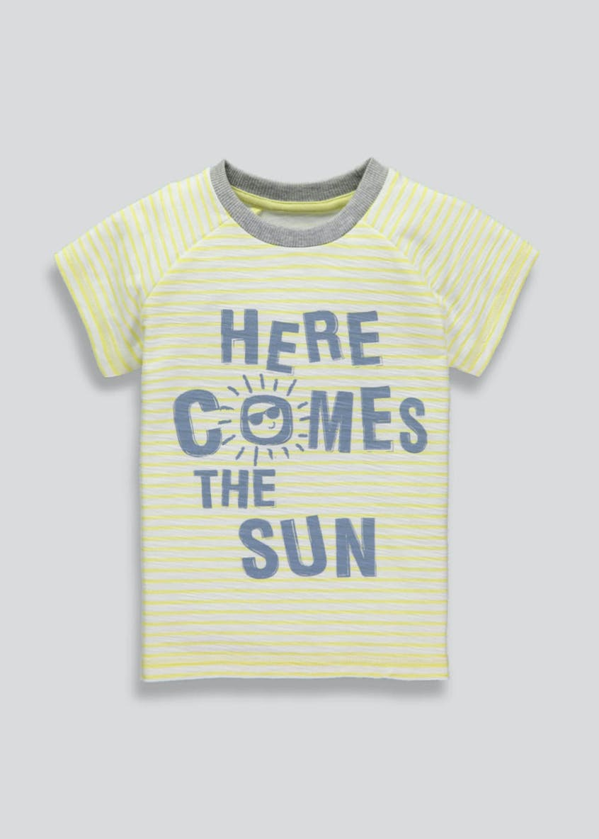 Boys Sun Slogan T-Shirt (3mths-6yrs)