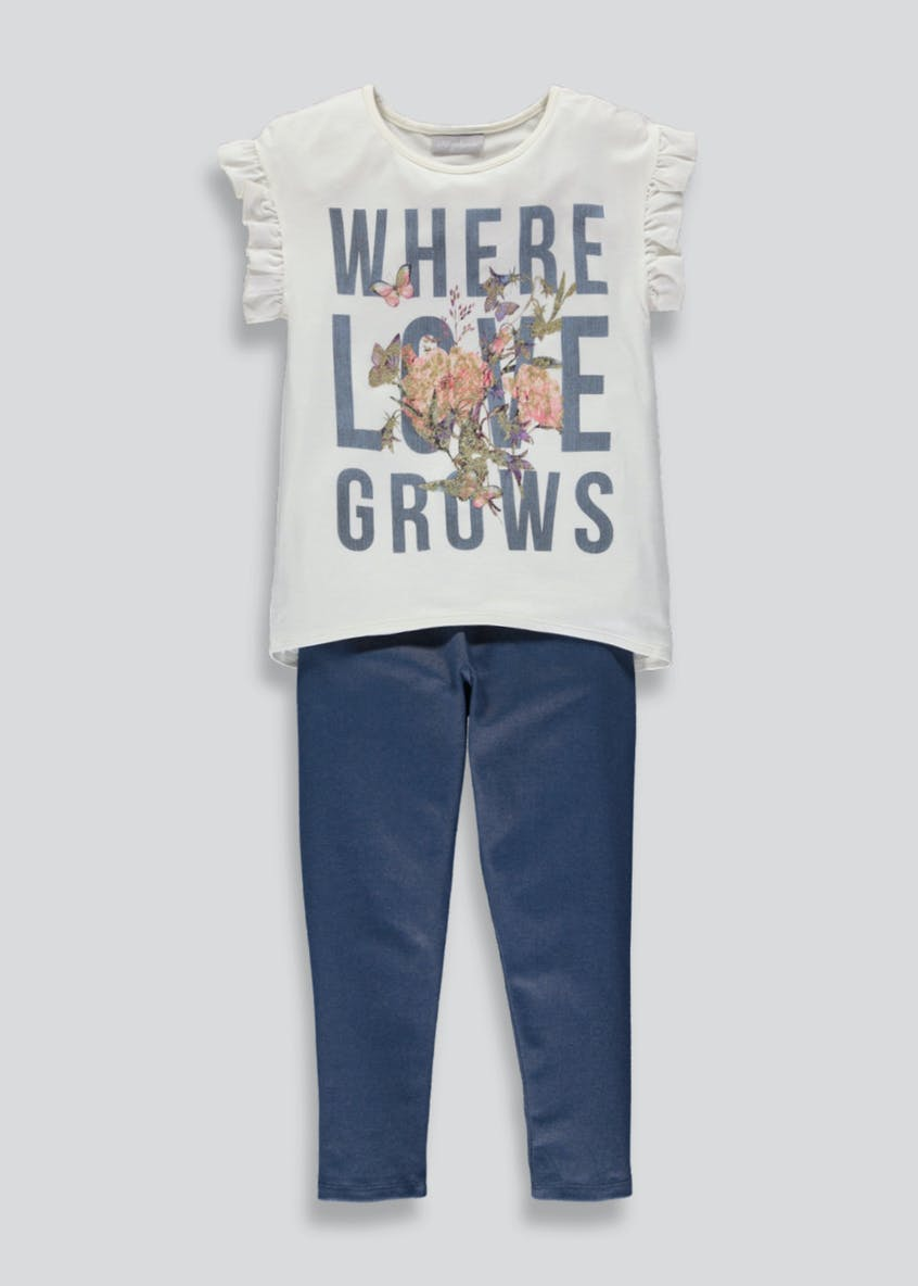 Girls T-Shirt & Jeggings Set (4-13yrs)