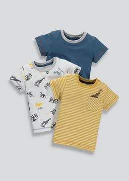 Boys 3 Pack Animal T-Shirts 3mths-6yrs)