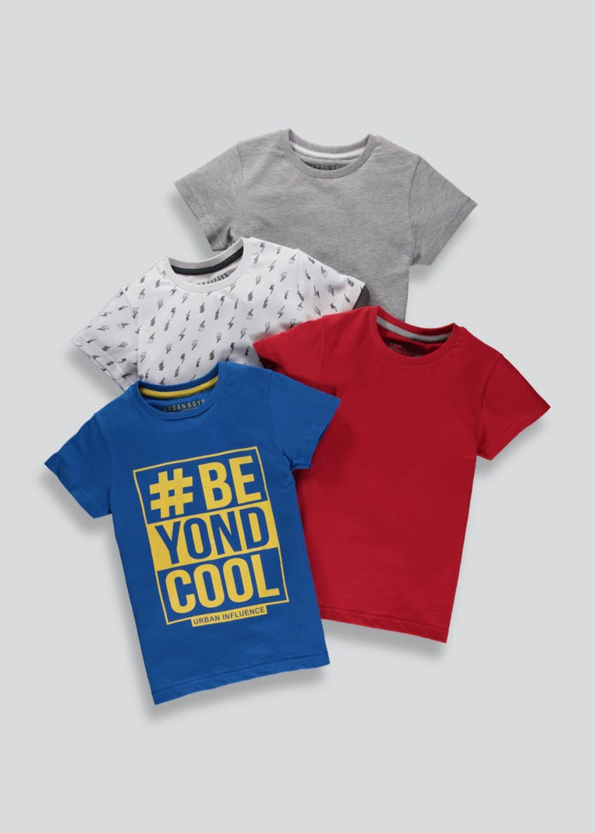 Boys 4 Pack T-Shirts (4-13yrs)