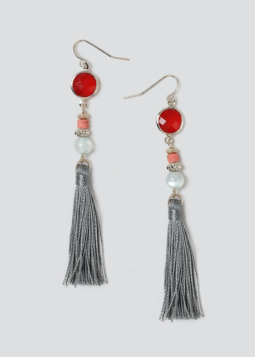 Bead And Tassel Drp Earring