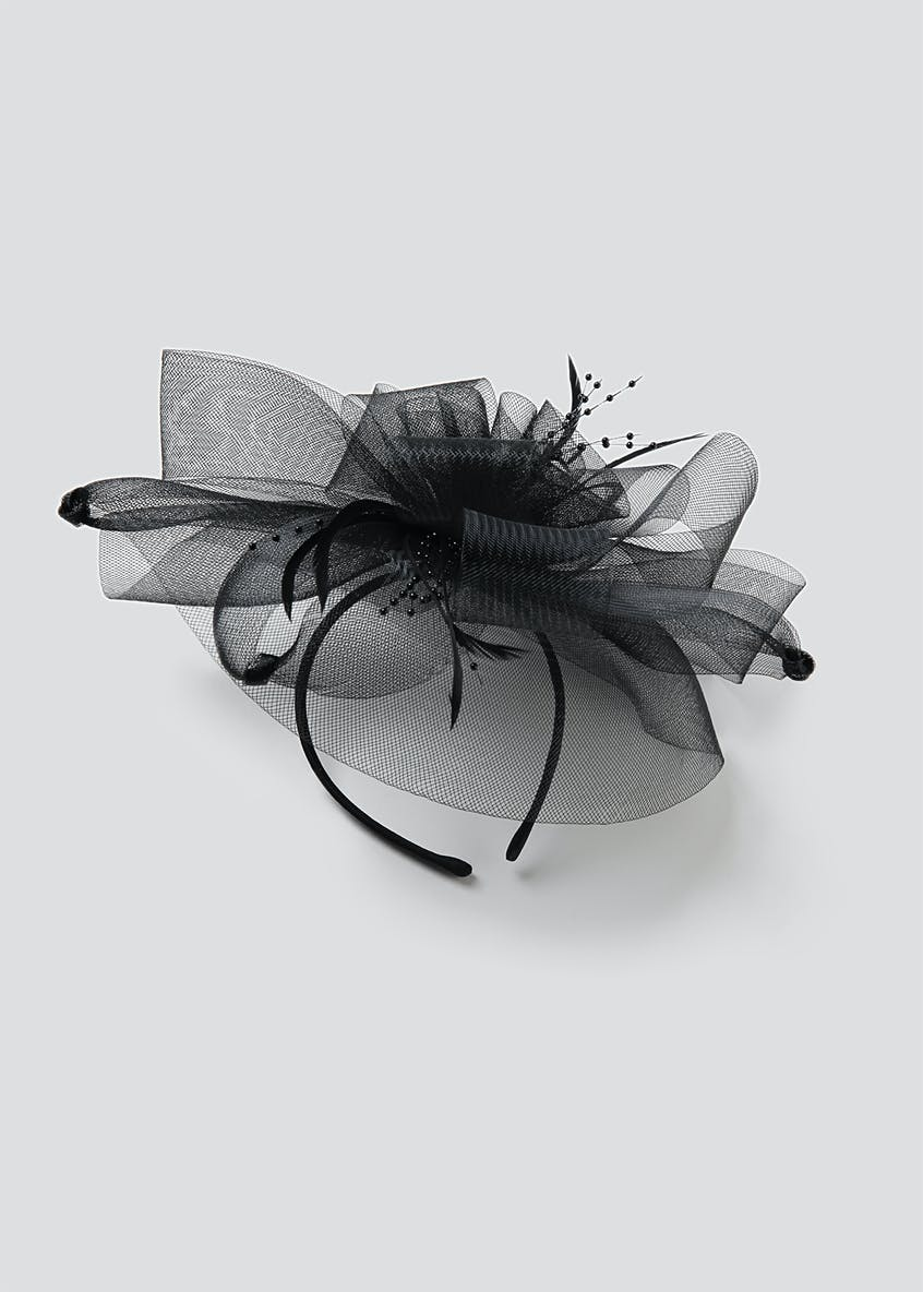 Large Net and Bead Fascinator