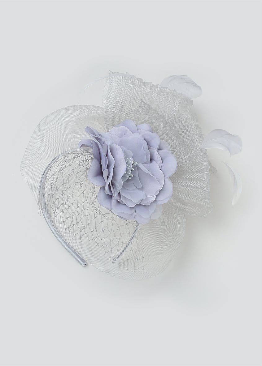 Crinkle Net Rose Fascinator