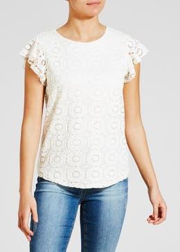 Lace Frill Swing Vest Top