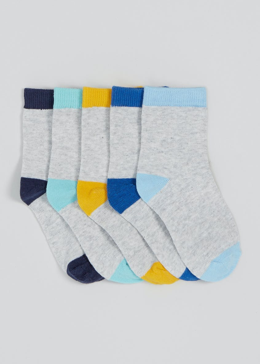 Boys 5 Pack Socks (Newborn-8.5)