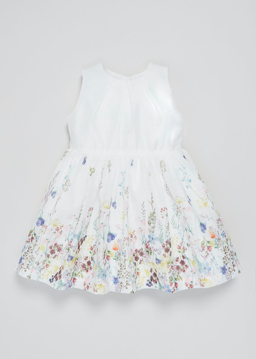 Girls Floral Border Dress (3mths-6yrs)