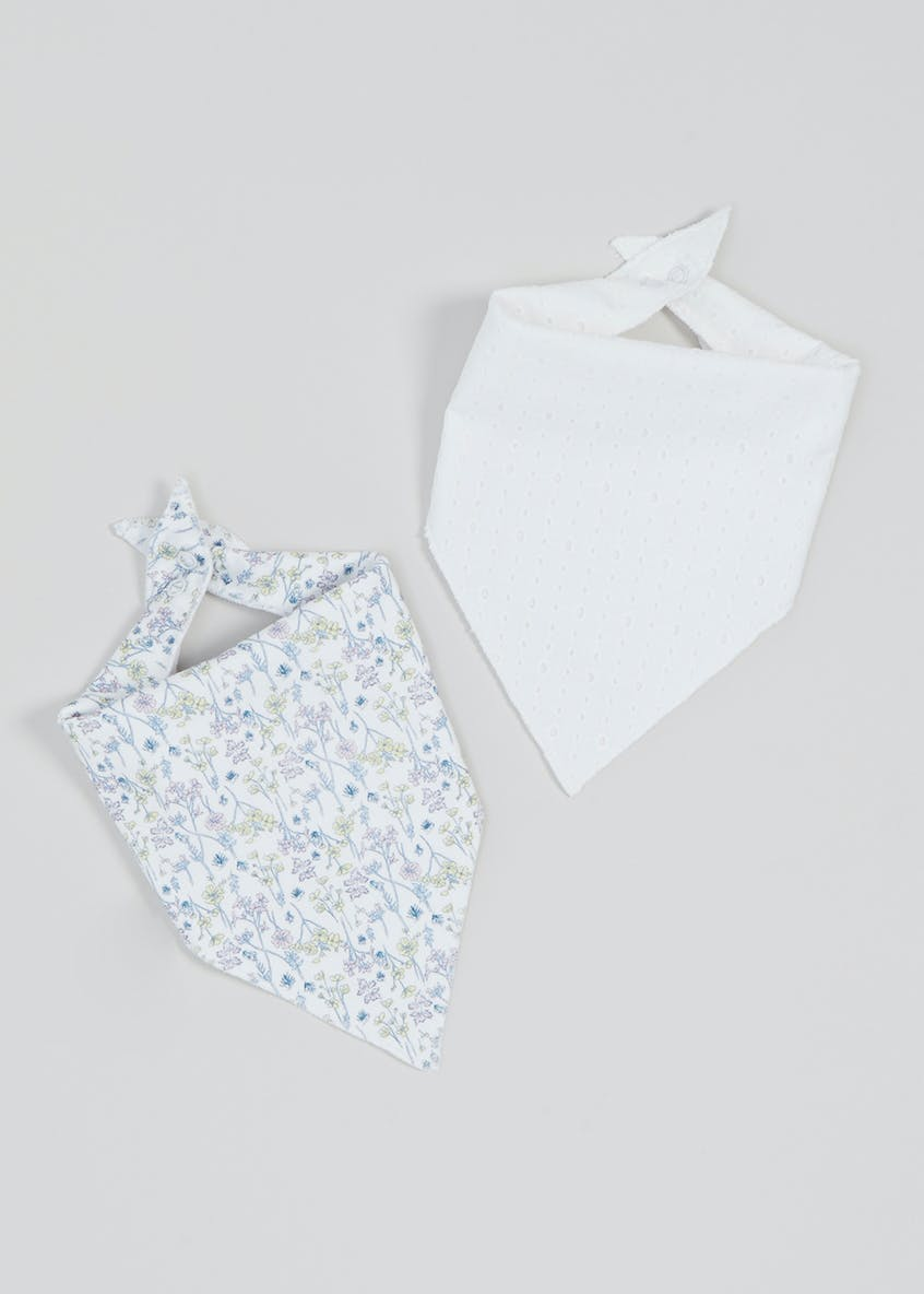 2 Pack Bandana Bibs (One Size)
