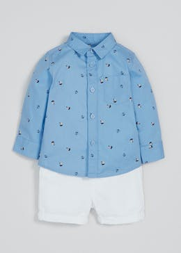 Boys Smart Boat Shirt & Shorts Set (Newborn-18mths)