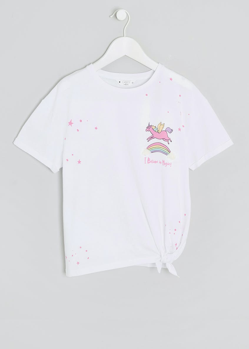 Girls Candy Couture Unicorn T-Shirt (9-16yrs)