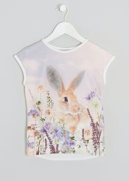 Girls Bunny T-Shirt (4-13yrs)