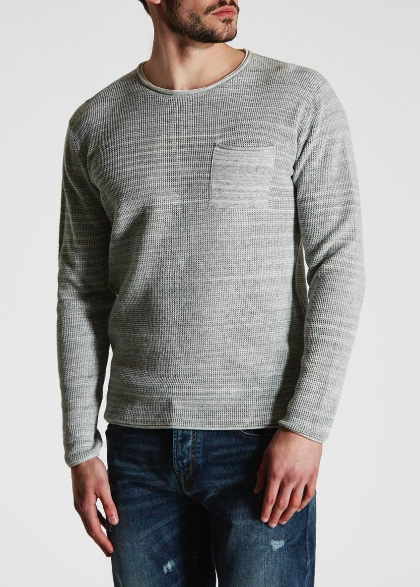 Chest Pocket Marl Knit